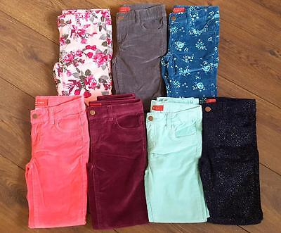 New Girls ex Zara Skinny Cord Jeans Trousers Glitter Floral Age 4-14 Years