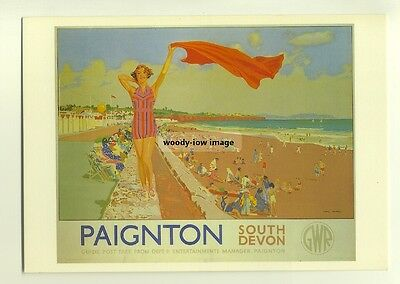 ad2612 - Great Western Railway - Paignton - modern poster advert postcard