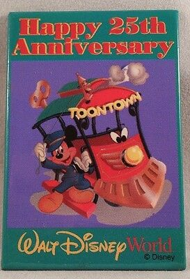Disney Button Walt Disney World - Happy 25th Anniversary Toontown