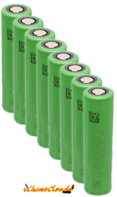 8x 18650 Sony VTC5 | High Drain 2600Mah 3.7v 30A Battery Flat-Top Rechargeable