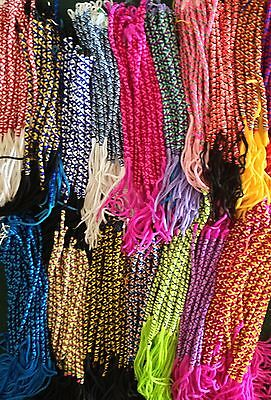 Wholesale 10 colorful twisted friendship bracelets handmade Peruvian lot