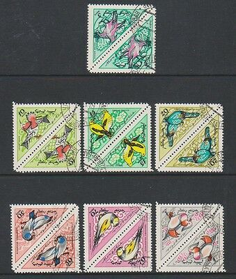 Mongolia - 1961, Songbirds set in Pairs - F/U - SG 203/9 (a)
