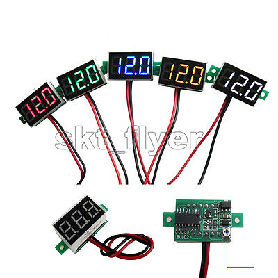 1pcs DC2.50-30V Mini Digital Voltmeter Voltage Panel Meter LED Board RED BLUE