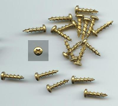 """Bag of 250 #6 X 5/8"""" PHILLIPS CABINET HINGE WOOD SCREWS - OVAL HEAD BRIGHT BRASS"""