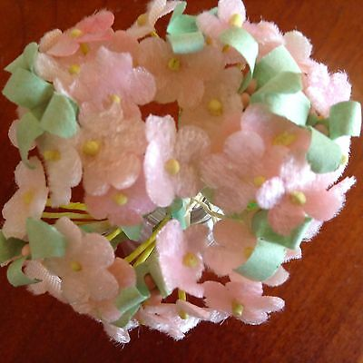 Vintage millinery flowers forget me not pink velvet for hat doll vintage millinery flowers forget me not pink velvet for hat doll hair pv1 mightylinksfo