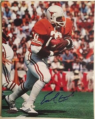 Earl Campbell Autographed Texas Longhorns 8x10 Photo Tristar Authenticated