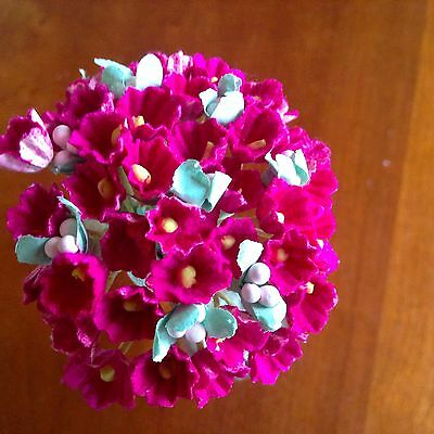 Vintage Millinery Flower Forget Me Not Rosy Pink Cluster for Hat Bride Hair RP1