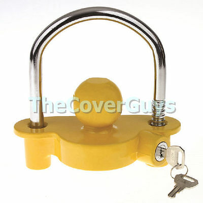 Tow ball Coupling Hitch Lock for Boat, Trailer, Caravan, Camper, Horse Float