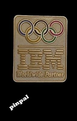 IBM Olympic Sponsor Pin~1998~Nagano~Gold Tone with logo~ use for trader in 2016