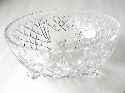 CZECH CRYSTAL SERVING BOWL  perfect