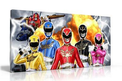 Single Canvas Picture Wall Art Power Rangers Free P&p New  Available 2 Designs