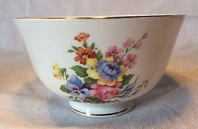 Lovely Queen Anne Fine Bone China Sugar Bowl With Floral Pattern