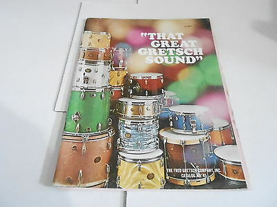 VINTAGE MUSICAL INSTRUMENT CATALOG #10662 1971 GRETSCH DRUMS w/price lists