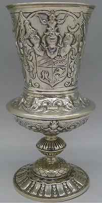 German Lubeck Schlesweig Nurnberg 1720 Solid Silver Nude Woman Cup Chalice Rare