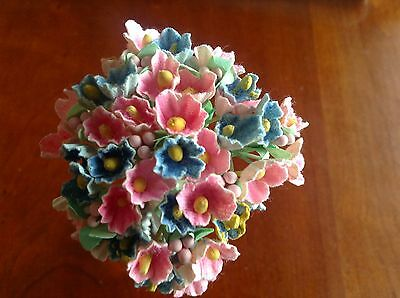 """Millinery Flower Doll Size 1/"""" Hot Pink 2pc Lot for Hat Wedding or Hair Y221"""