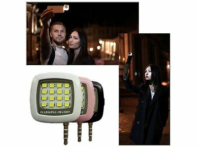 Universal Selfie dimmable Flash Cell Phone Camera LED Light for iPhone samsung