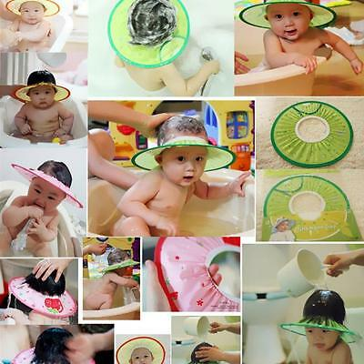 Adjustable Baby Kids Shampoo Shower Bathing Bath Soft Cap Hat Wash Hair Shield
