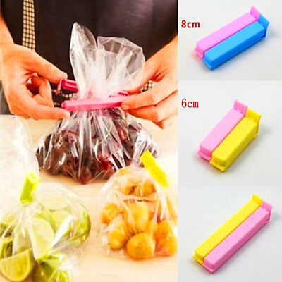 5/30Pcs Kitchen Storage Food Snack Sealing Bag Sealing Clips Clamp Plastic Tools