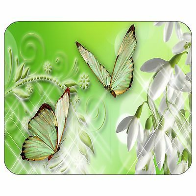 Snowdrops On Green Mousepad Mouse Pad Mat
