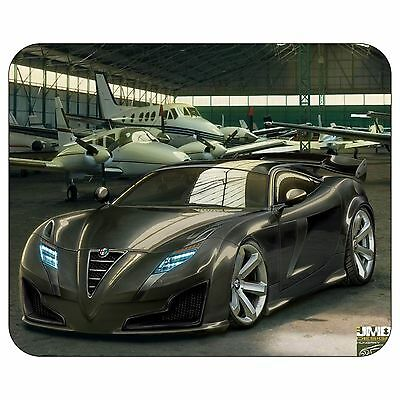 Car With Plane Mousepad Mouse Pad Mat