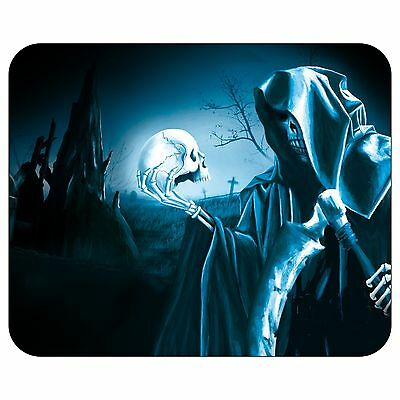 Grim Reaper With Skull Mousepad Mouse Pad Mat