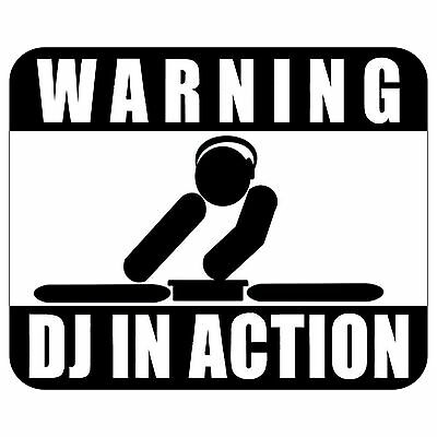 Warning Dj In Action Mousepad Mouse Pad Mat