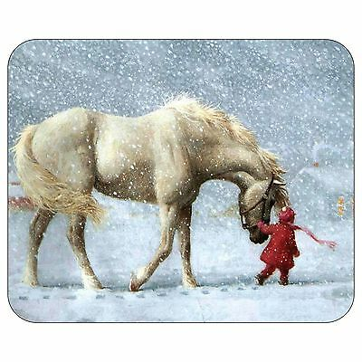 Horse And Little Girl Mousepad Mouse Pad Mat