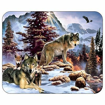 Native Wolfs And Cubs Mousepad Mouse Pad Mat