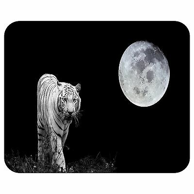 The White Tiger And The Moon Mousepad Mouse Pad Mat