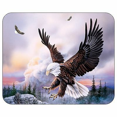 Bald Eagles In Sky Mousepad Mouse Pad Mat