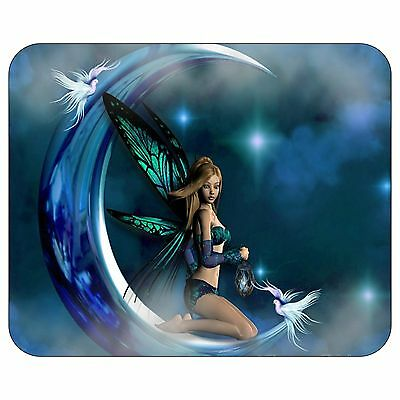 Blue Green Fairy Mousepad Mouse Pad Mat