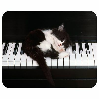 Piano And Kitten Mousepad Mouse Pad Mat