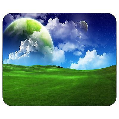 Green Planet Hiding In The Clouds Mousepad Mouse Pad Mat