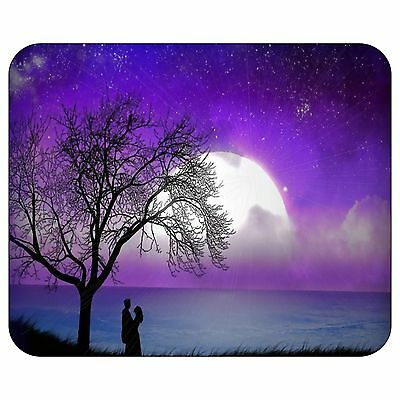 Big Moon On The Purple Sky Mousepad Mouse Pad Mat