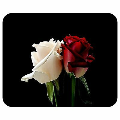 White And Red Rose Mousepad Mouse Pad Mat