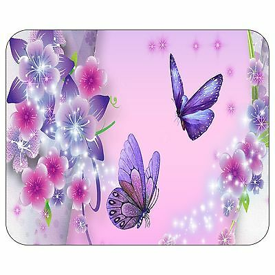 Purple Butterflies And Blossoms Mousepad Mouse Pad Mat