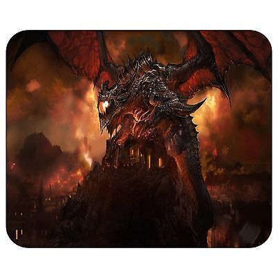 Giant Dragon Over The City Mousepad Mouse Pad Mat