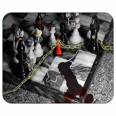 Chess Crime Scene Mousepad Mouse Pad Mat