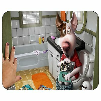 Puppy On The Toilet Mousepad Mouse Pad Mat