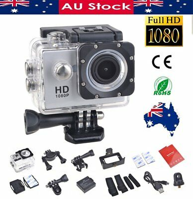 Sports Action Helmet Camera 1080P HD Waterproof Car Recorder + Bicycle Fit Mount