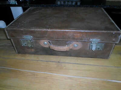 Antique Leather Suitcase Dated 1851