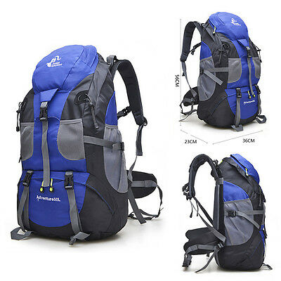 NEW 50L Outdoor Camping Backpack Travel Hiking Waterproof Luggage Bags Rucksack