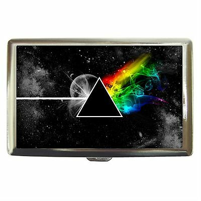 Stylized The Dark Side Of The Moon Stainless Cigarette Money Card Case Box