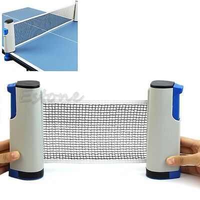 Portable Telescopic Retractable Table Tennis Net Rack Replacement Ping Pong Kit