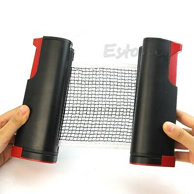 Portable Retractable Telescopic Table Tennis Net Rack Ping Pong Kit TOP Black