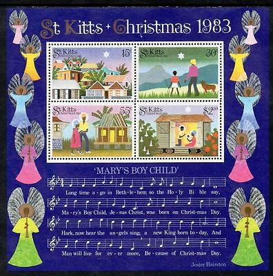 St Kitts MNH 1983 Christmas M/S