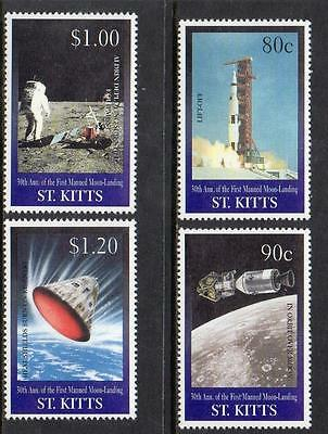 St Kitts MNH 1999 The 30th Anniversary of First Manned Landing on Moon