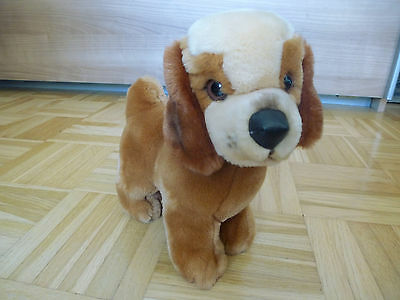 "STEIFF Vintage ""Cosy Bello""  cute DOG  ID# 5457/20 button tag germany"