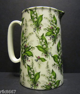 Heron Cross Pottery Lilly Of The Valley Chintz English 1 Pint Milk Jug