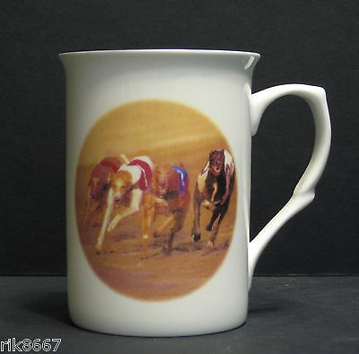 Greyhound Racing Dog (Head BF) Fine Bone China Mug Cup Beaker